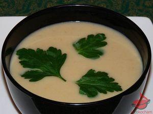 Zupa krem zbiałej fasoli tocokocham.com