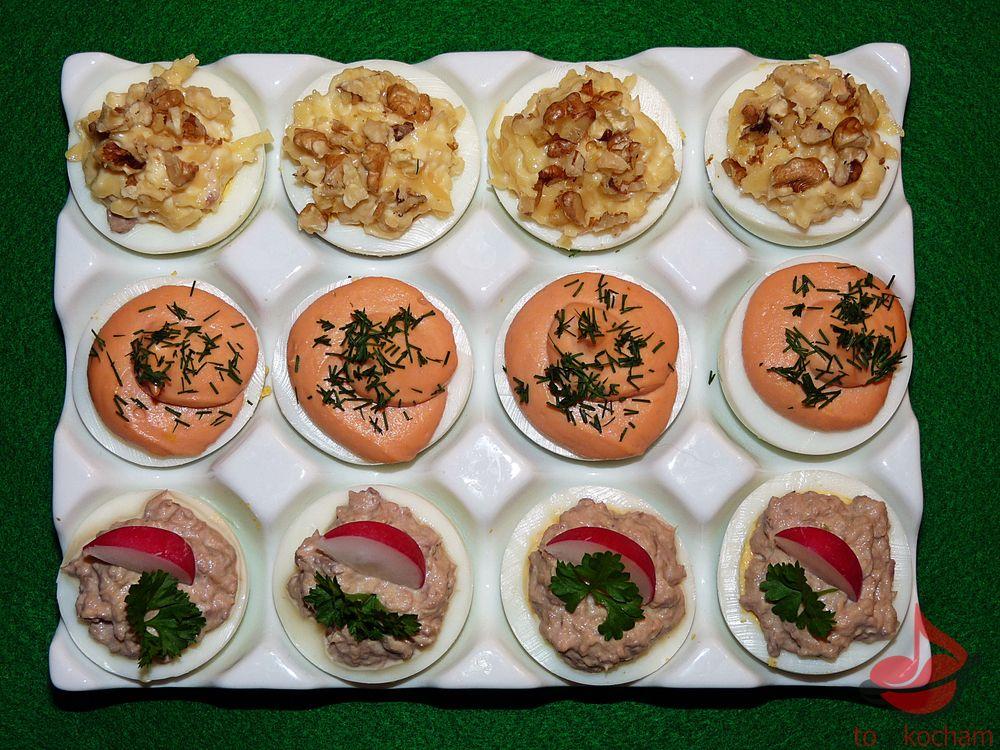 Jajka faszerowane Trio tocokocham.com