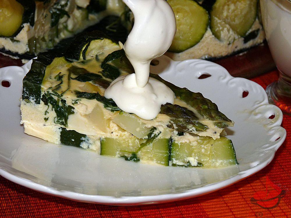 Zielony tort warzywny tocokocham.com