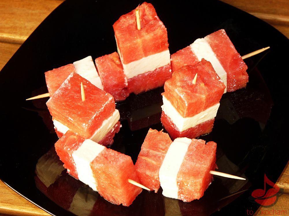 Szaszłyczki arbuzowe zfetą tocokocham.com