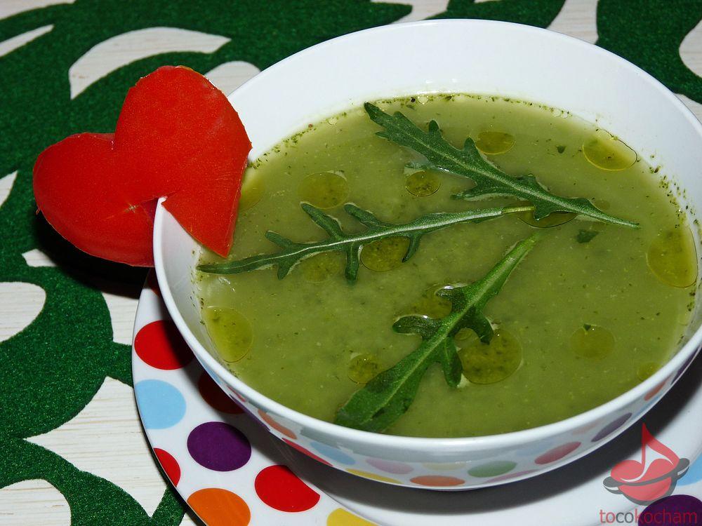 Zupa krem zzielonych warzyw tocokocham.com