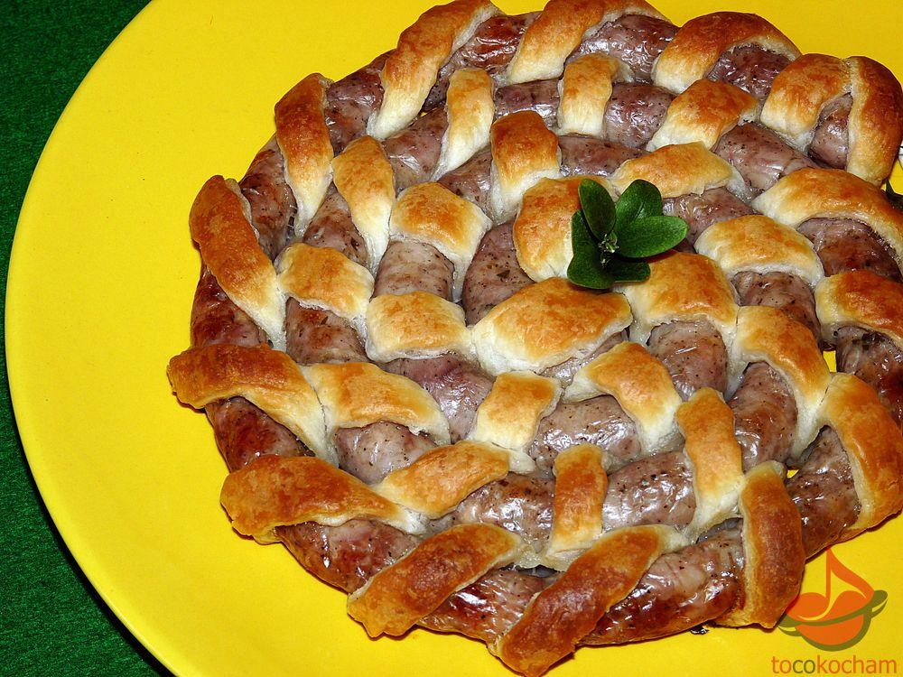 Ślimak zbiałej pieczonej kiełbasy tocokocham.com