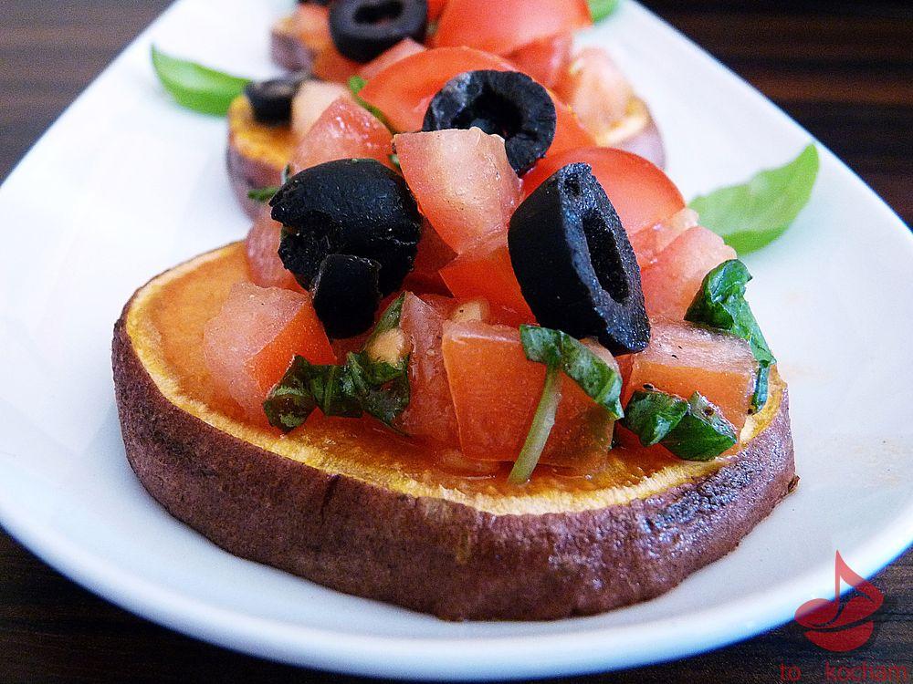 Pieczone bataty zpomidorową salsą tocokocham.com