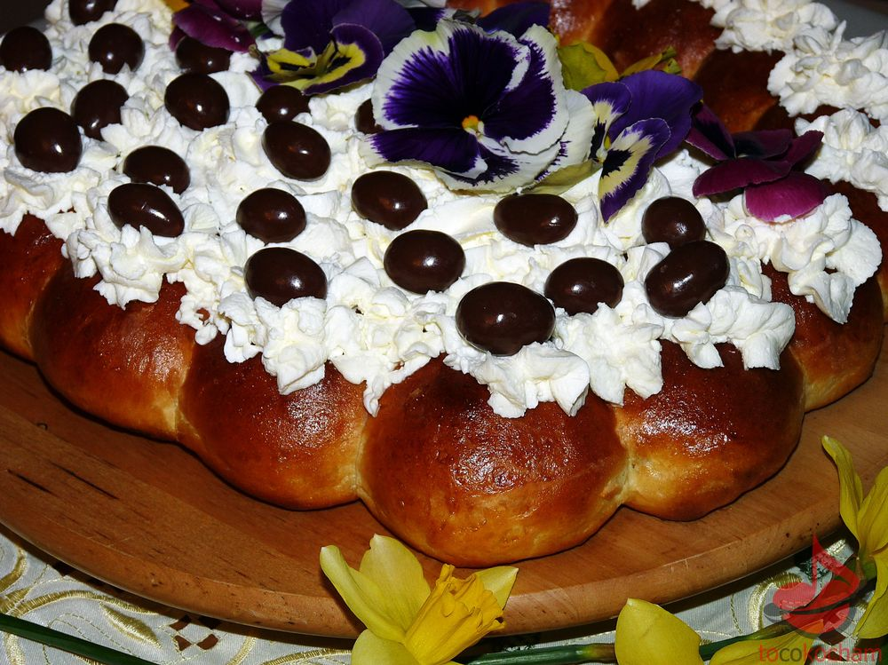 Wielkanocny koszyk drożdżowy tocokocham.com