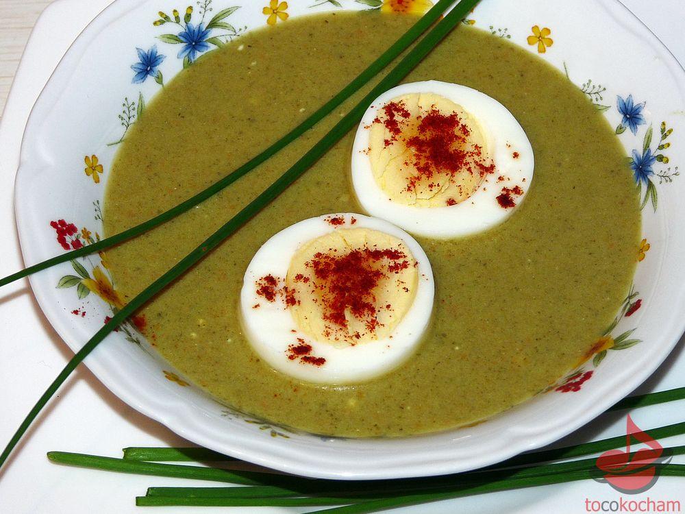 Zupa krem szczawiowo-serowy tocokocham.com