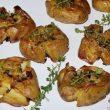 Pieczone ziemniaki czosnkowo-tymiankowe tocokocham.com