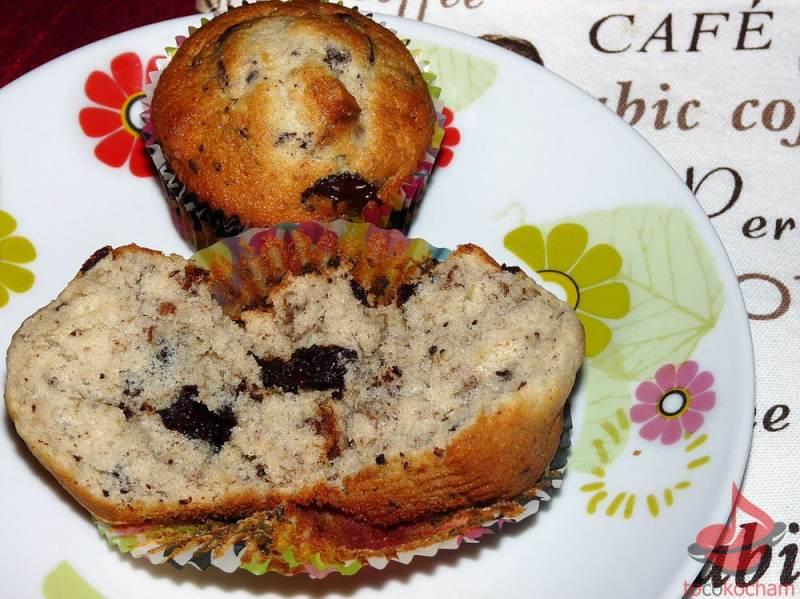 Muffinki bananowe zczekoladą tocokocham.com