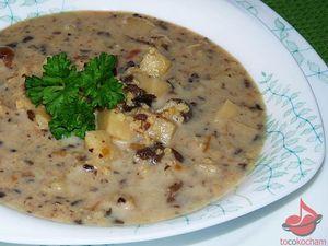 Zupa pieczarkowa zkaszą jaglaną tocokocham.com