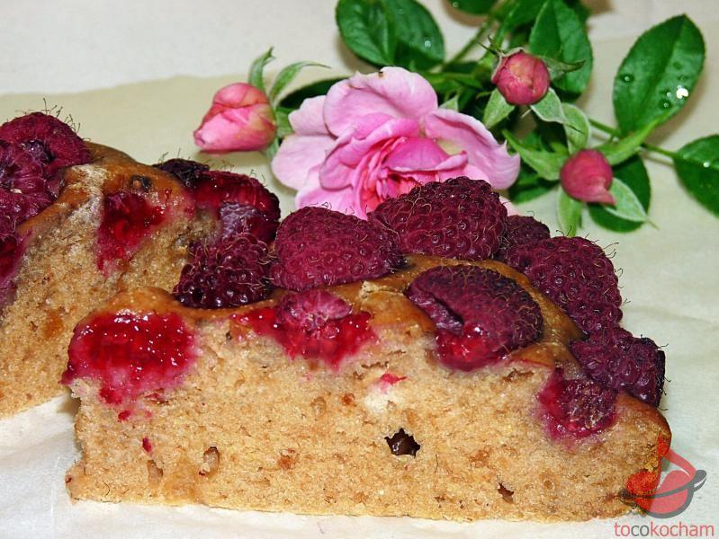Ciasto jabłkowo-malinowe tocokocham.com