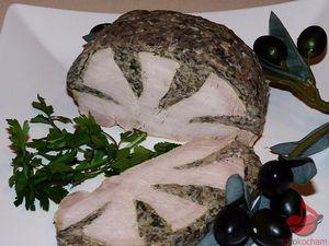 Schab wczapie zmielonego mięsa ipieczarek tocokocham.com
