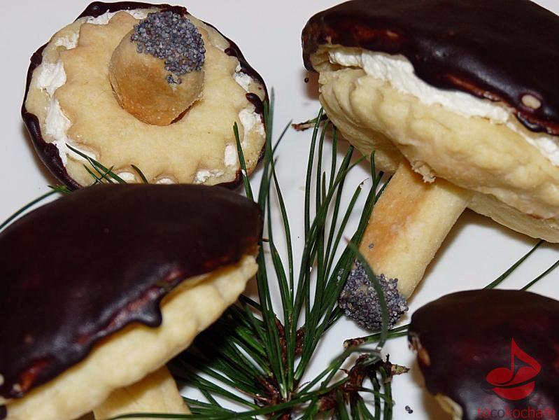 Ciastka Leśne grzybki tocokocham.com