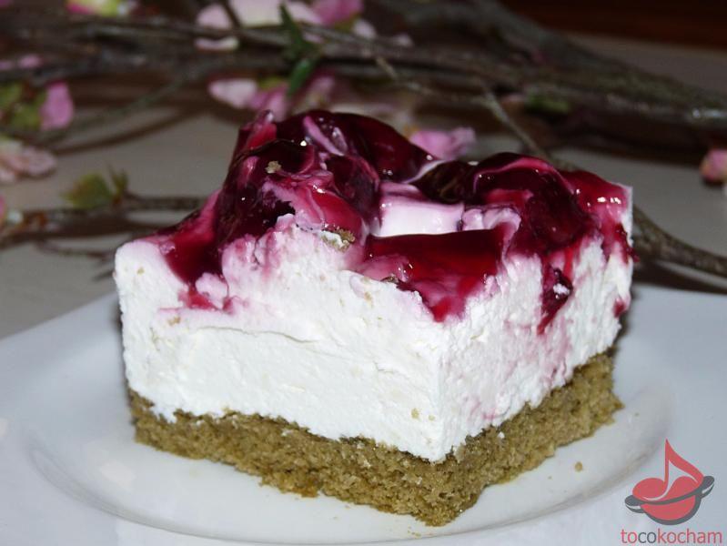 Ciasto serowe Japońska wiśnia tocokocham.com