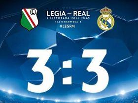 Legia Real 3-3 Liga Mistrzów 2016/2017