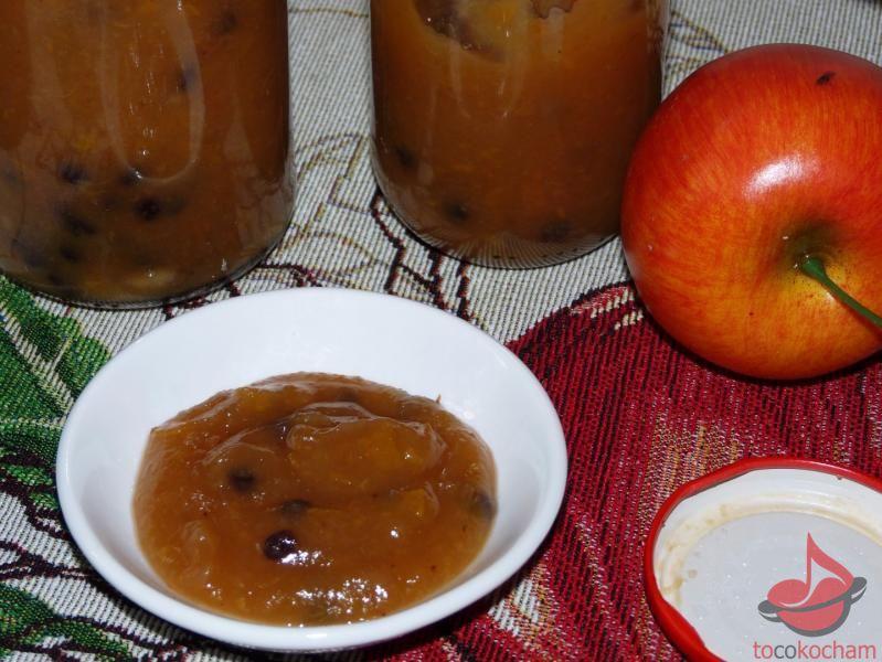 Dżem zjabłek ibrzoskwiń zrodzynkami tocokocham.com