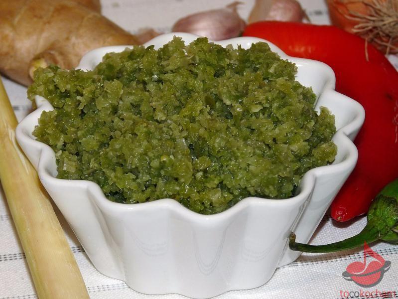 Pasta curry zielone tocokocham.com