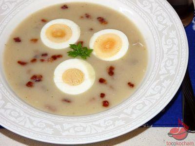 Zupa chlebowa zjajkiem tocokocham.com
