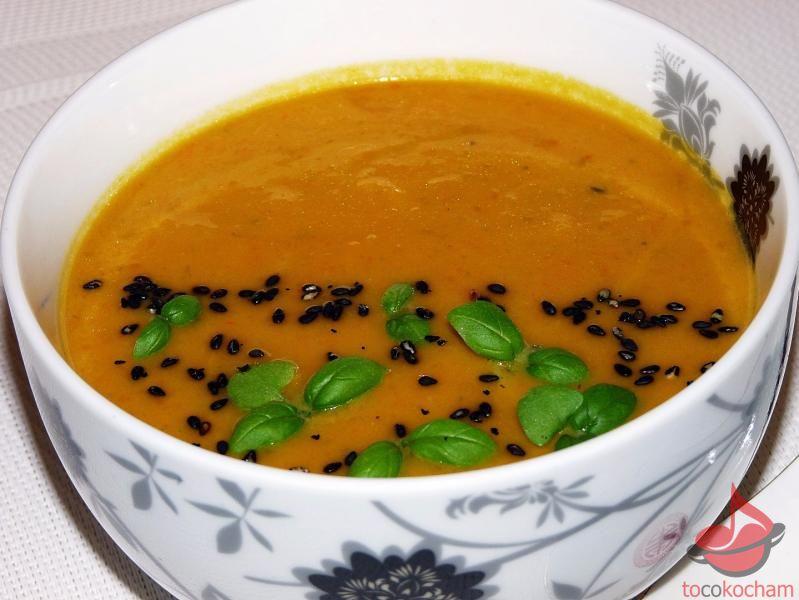 Zupa dyniowa zpastą curry tocokocham.com