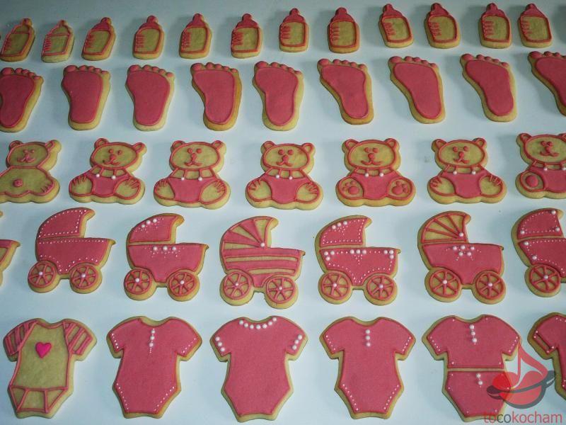 Ciastka naBaby Shower dla dziewczynki tocokocham.com