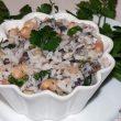 Sałatka z pieczarek, ryżu i białej fasoli tocokocham.com
