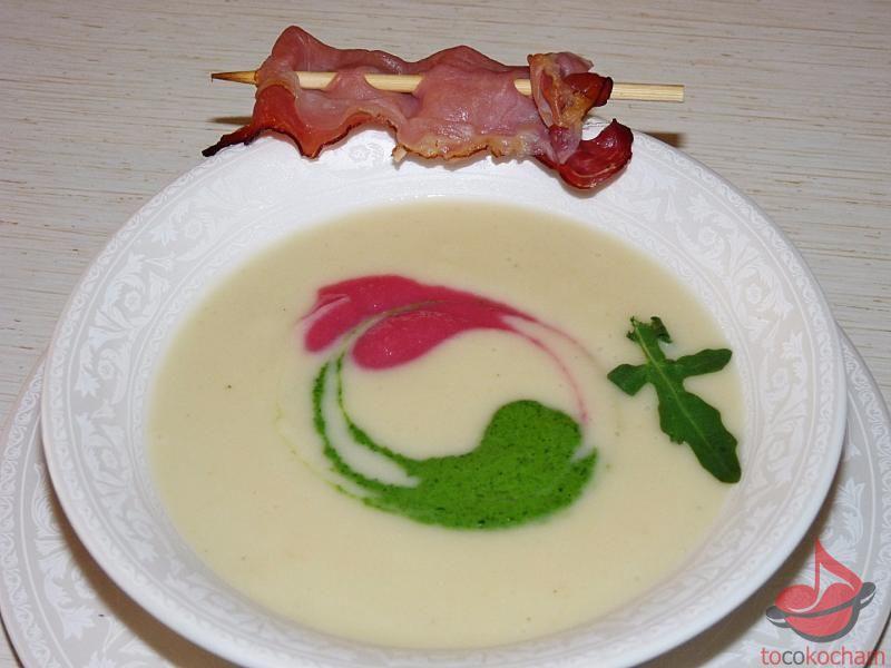 Zupa kremowa zbiałych warzyw tocokocham.com
