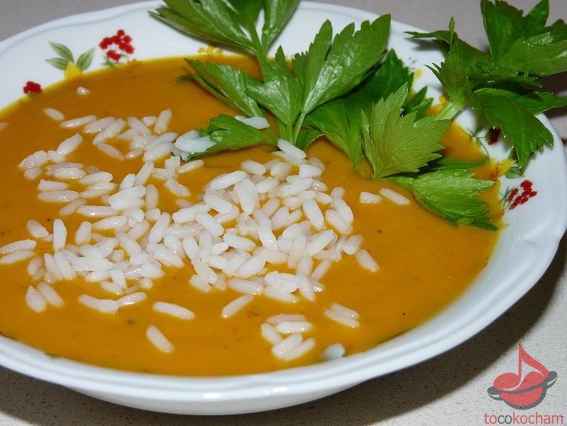 Zupa krem dyniowo-pomidorowa tocokocham.com