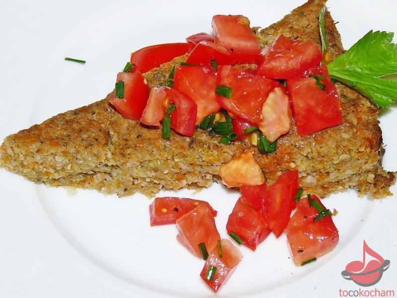Pasztet warzywny zpomidorową salsą tocokocham.com