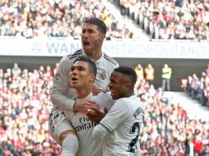 Atletico-Real 1-3 hiszpańska la liga 2018/2019