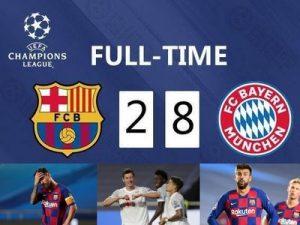 Bayern Barcelona 8-2 Liga Mistrzów 2019/2020
