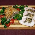 Filet zindyka faszerowany pieczarkami